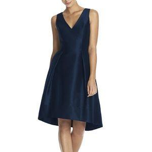 Alfred Sung Style D586 Midnight Dupioni Dress